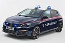 Auto Une Peugeot 308 GTi pour les carabiniers italiens