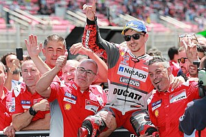 MotoGP Qualifying report Barcelona MotoGP: Lorenzo beats Marquez for first Ducati pole