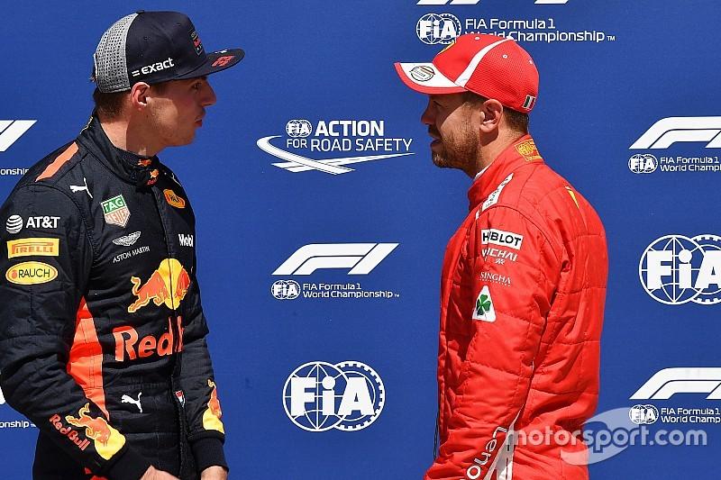 Vettel prefiere hablar con Verstappen en privado