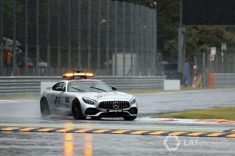 Formel 1 2017 in Monza: Nur eine Viertelstunde Regentraining