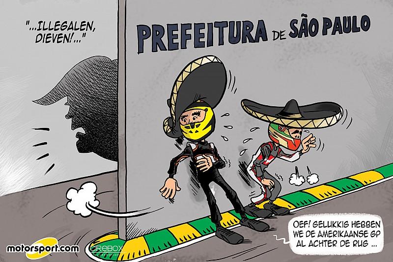 Cartoon van Cirebox - Op de vlucht voor Trump!
