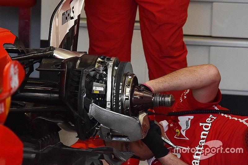 Ferrari: i freni posteriori della SF70H hanno dischi più piccoli