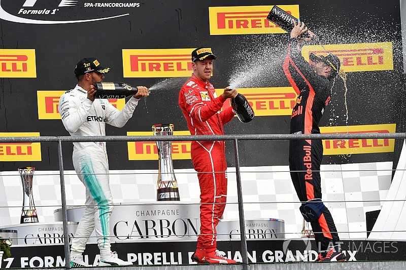 "Mesmo derrotado, Vettel celebra GP ""divertido"" na Bélgica"
