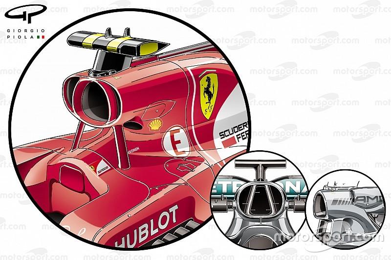 Formel-1-Technik: Ferrari vs. Mercedes beim GP Malaysia 2017
