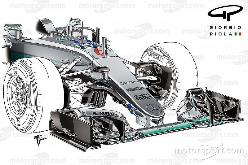 """Análisis técnico: Cómo Mercedes llevó al conducto """"S"""" a otro nivel"""