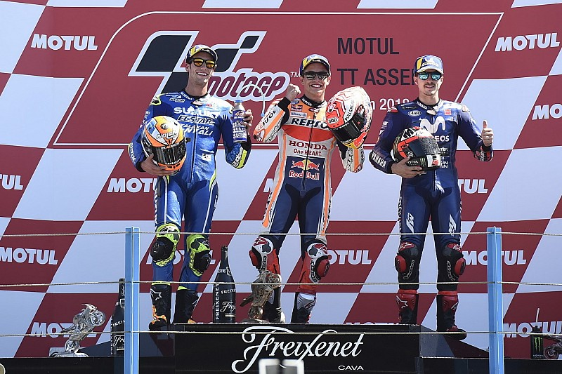 Gli anni passano per tutti: per la prima volta, Marquez è stato il più vecchio sul podio ad Assen