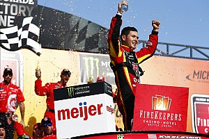 NASCAR Cup Race report Larson takes Michigan win after late-race pass on Kyle Busch