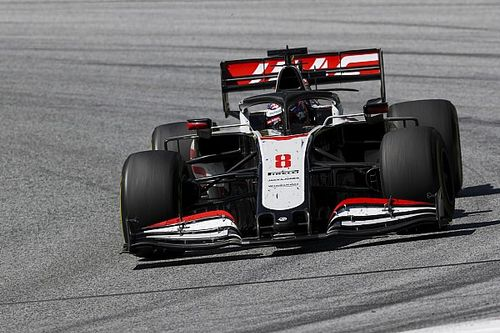 Haas brake failures caused by insufficient cooling - Grosjean