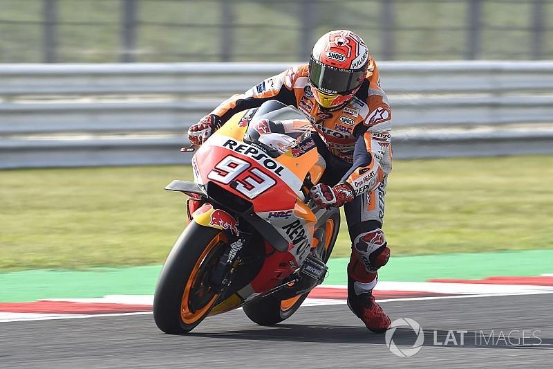 Márquez supera a las Ducati en el warm up de Misano