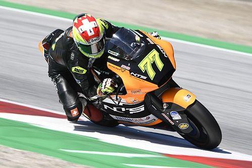 Aegerter teamgenoot Bendsneyder bij RW Racing tijdens Moto2-finale