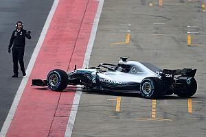 F1 速報ニュース スクープ撮。メルセデス、発表会を前に新車W09をシェイクダウン