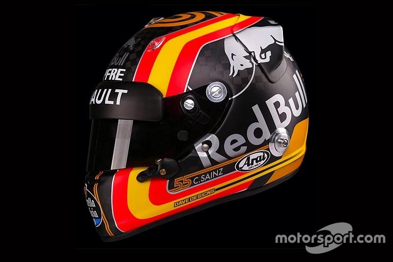 Carlos Sainz, Renault'da yarışacağı kaskı tanıttı