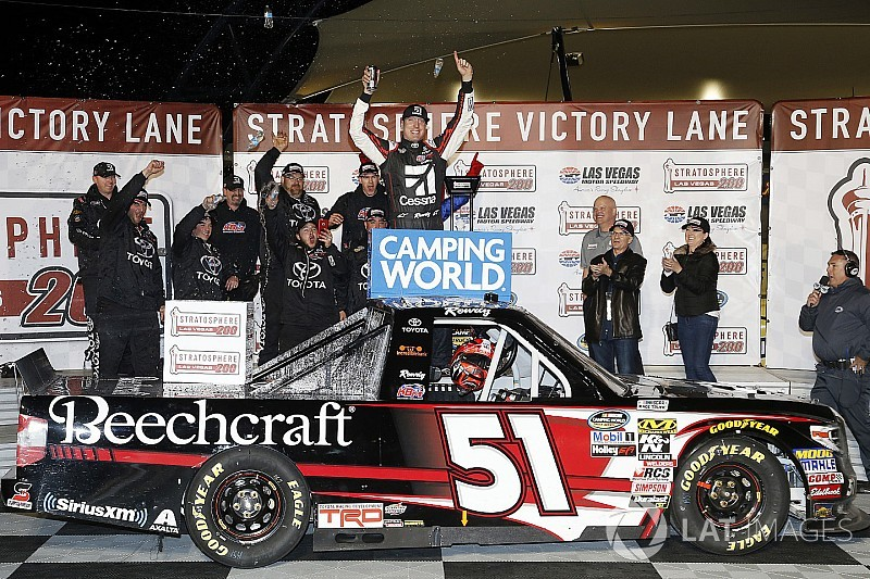 Kyle Busch takes 50th NASCAR Truck win at home in Las Vegas