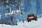 Ostberg se queda a un metro de igualar el salto más largo del WRC
