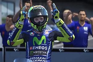 Virtual Special feature Aksi Valentino Rossi di video game MotoGP 17