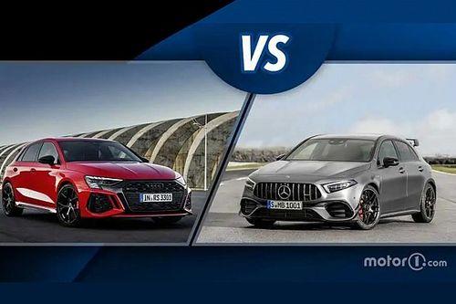 Audi RS 3 vs Mercedes Classe A 45S, sfida tra super hot hatch