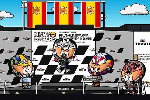 Vídeo: el GP de Emilia Romagna 2020 de MotoGP según MiniBikers