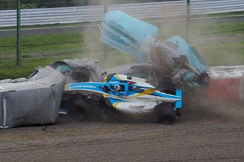 Newey escapes violent 130R Super Formula crash