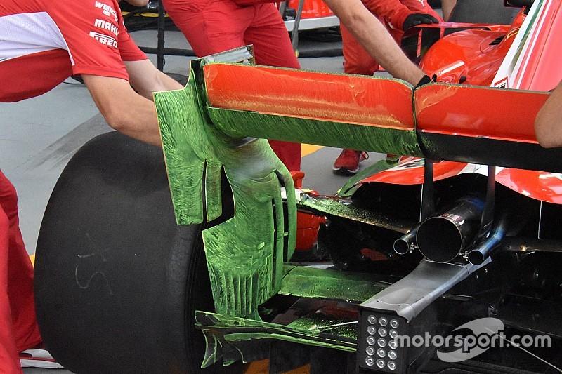 GALERÍA TÉCNICA: actualizaciones de los autos de F1, directamente desde los garajes