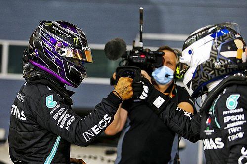 Hamilton heer en meester in kwalificatie Grand Prix van Bahrein