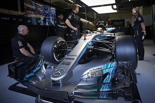 ¿Qué tan grande es un Mercedes de F1?