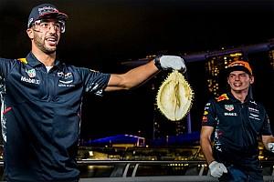 Vídeo: Verstappen, Ricciardo y el reto de la fruta maloliente