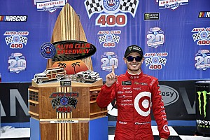 Race-winner Kyle Larson uninjured in car accident leaving track