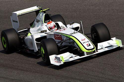 Tien jaar na dato: Barrichello met de Brawn GP in Goodwood