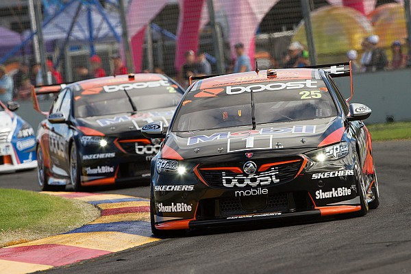 Supercars Walkinshaw drivers laugh off on-track tussle