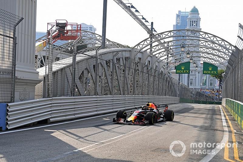 Ricciardo lidera dobradinha da Red Bull no TL1 em Singapura