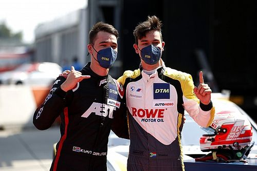 Lausitzring DTM: Van der Linde brothers lock out front row