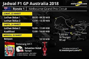 Jadwal lengkap F1 GP Australia 2018