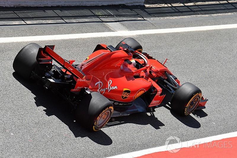 """Vettel : Avec les pneus normaux, ça aurait été """"pire"""" pour Ferrari"""