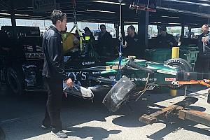 IndyCar Noticias Hildebrand choca en el test de Gateway