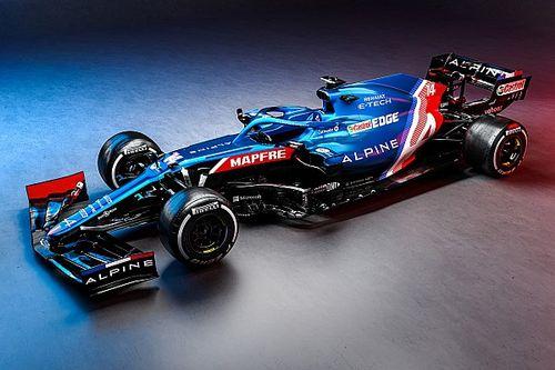Alpine stelt auto met blauwe livery voor F1-seizoen 2021 voor
