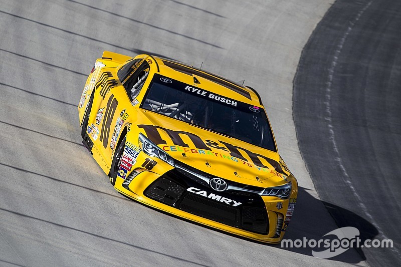Kyle Busch tops Saturday morning practice, Hamlin and Patrick collide