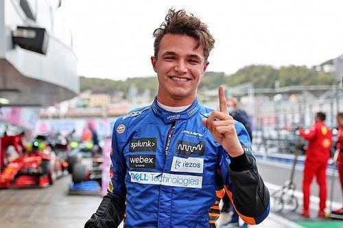 F1 Russian GP: Norris beats Sainz to maiden pole at wet-dry Sochi