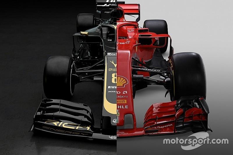 Порівняння: боліди Haas 2019 року та Ferrari 2018 року