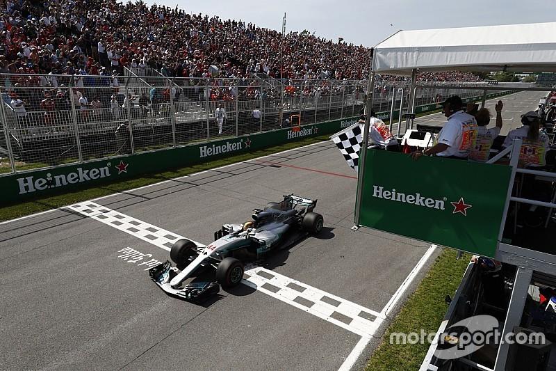 Hamilton ongenaakbaar in Canada, Verstappen valt uit vanaf P2