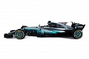 La Mercedes svela la livrea con nomi e numeri più grandi