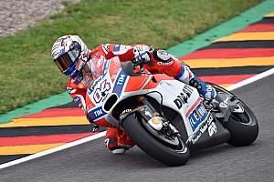 MotoGP Trainingsbericht MotoGP 2017 am Sachsenring: Ducati-Fahrer Dovizioso legt vor