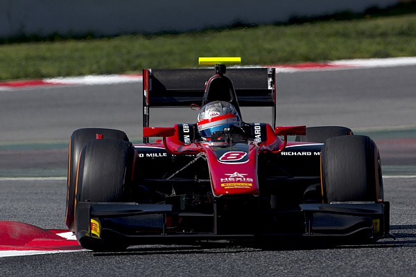Albon heads second day of Barcelona F2 test