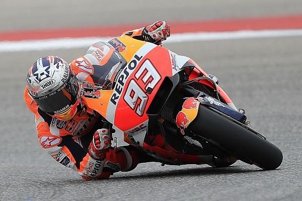MotoGP Practice report FP1 MotoGP Amerika: Marquez ditempel ketat Rossi