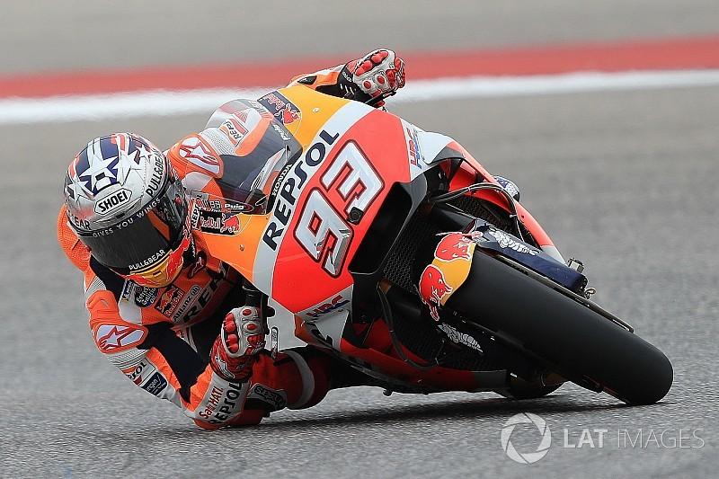 FP1 MotoGP Amerika: Marquez ditempel ketat Rossi