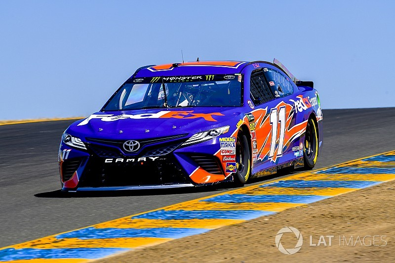 Denny Hamlin inherits Stage 2 win as the leaders pit early
