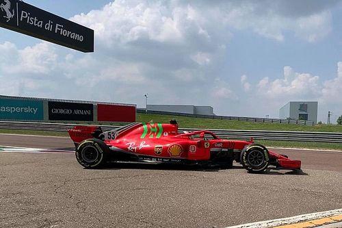Ferrari rueda con Schumacher e Ilott con el SF71H