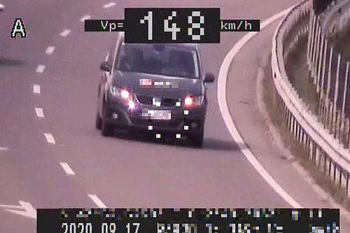 Gyorshajtás: volt, aki 90 helyett a 148 km/órát is bevállalta
