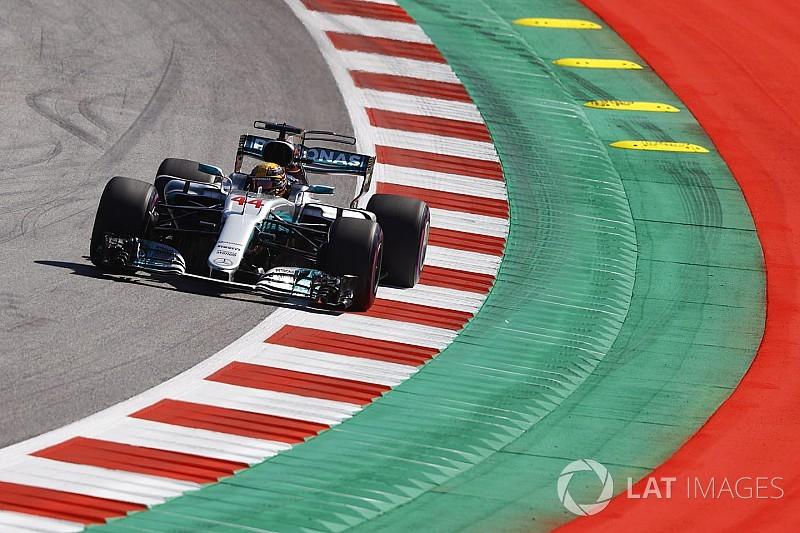 Hamilton, Avusturya'daki ilk günün ardından harika hissediyor