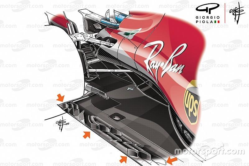 """Miért jelentek meg kis """"uszonyok"""" az F1-padlólemezeken?"""