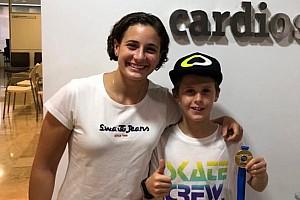 Ana Carrasco apadrina a Máximo Martínez, campeón de Europa con solo 10 años